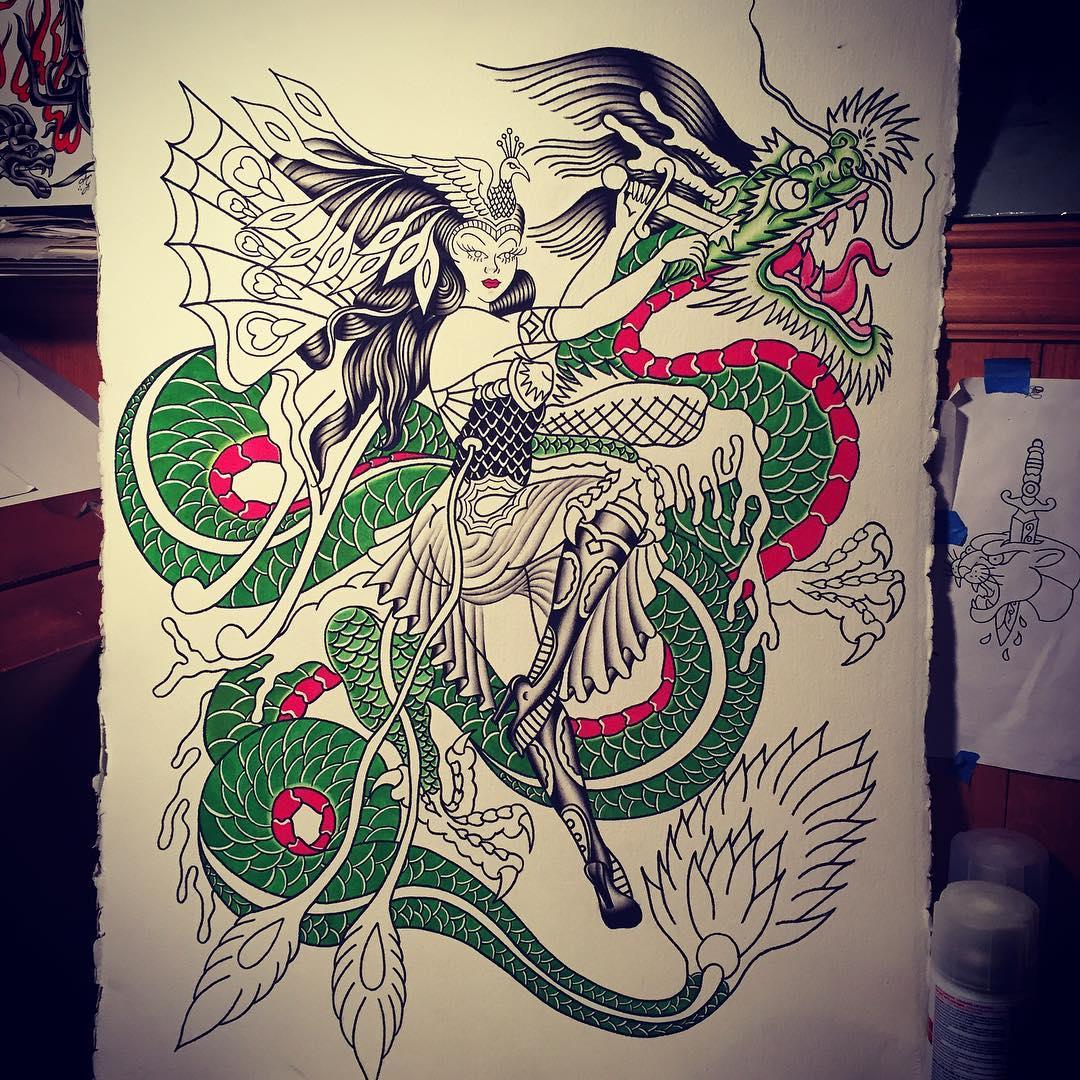 松先生小臂写实狮子纹身图案         做文员的危先生美女狼纹身手稿